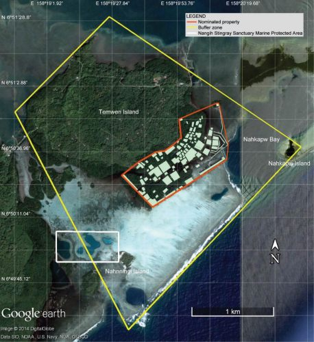 Map showing the boundaries of the Nan Madol Archaeological District World Heritage Centre International Scientific Committee on Archaeological Heritage Management (ICAHM) Report - The Mystery of Nan Madol – Greetings from the Past