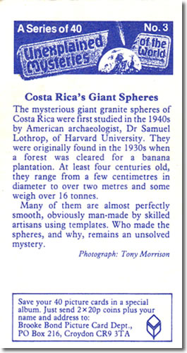 A Series of 40 Unexplained Mysteries of the World No. 3 The mysterious giant granite spheres of Costa Rica - Mysterious Stone Spheres of Costa Rica – Greetings from the Past