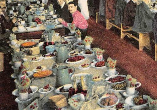 The spread in the Treadwell Gold Mine Dining Room