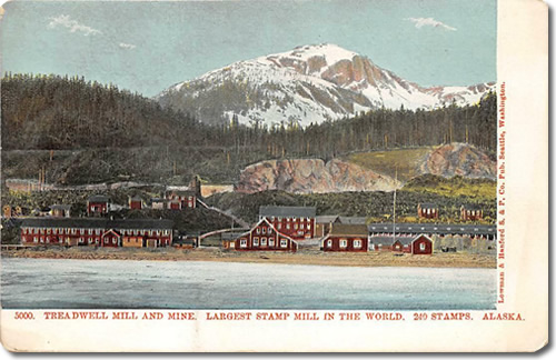 Postcard of Treadwell Mill and Mine Largest Stamp Mill in the World