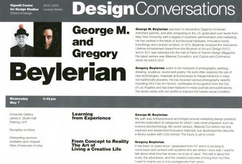 Vignelli Center for Design Studies lecture