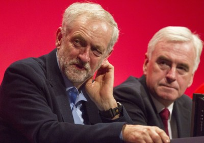 Picture Shows: Jeremy Corbyn, John McDonnell September 28, 2015 Labour MPs speak during the morning session of the Labour Party conference in Brighton, UK. Non Exclusive WORLDWIDE RIGHTS Pictures by : FameFlynet UK © 2015 Tel : +44 (0)20 3551 5049 Email : info@fameflynet.uk.com