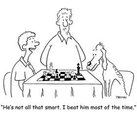 The Man who taught his Dog to play Chess