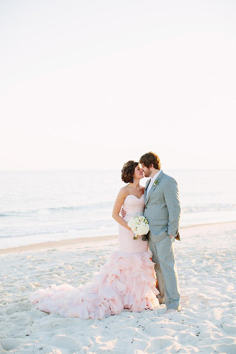 blush wedding dress on the beac blush colored wedding dresses maggie sottero blush pink wedding dress 13