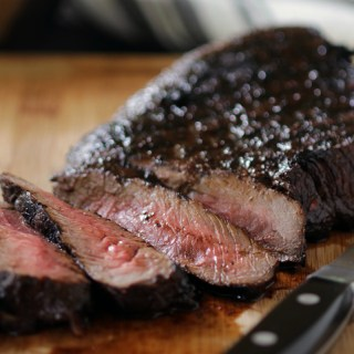 London Broil with Black Garlic Sauce - sq