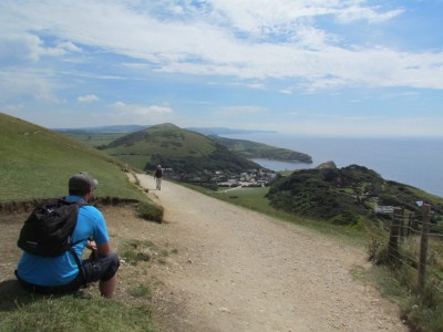 Looking down on Lulworth Cove