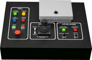 Mock-up of Hawboldt Industries ROV LARS controls