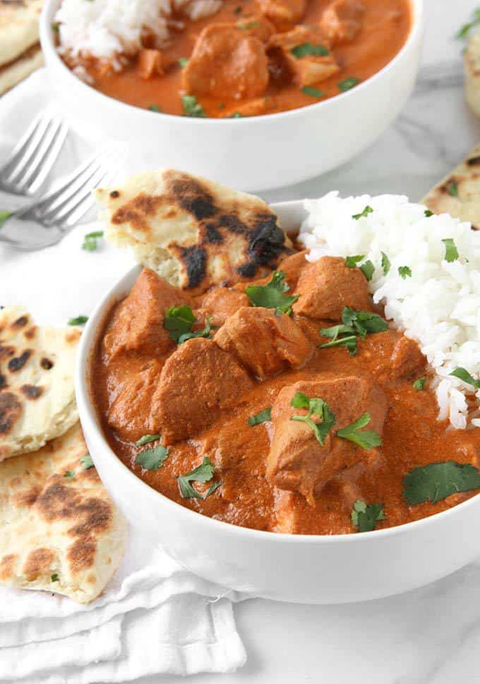Healthy Slow Cooker Butter Chicken by The Kitchen Paper