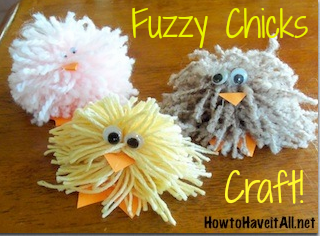 Fuzzy Chicks Easy Kids Craft!