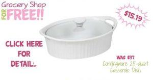 Corningware 2.5-quart Casserole Dish Just $15.19! Down From $37!