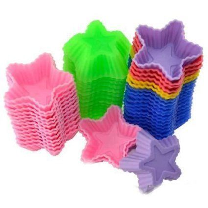 silicone star shape cupcake liners