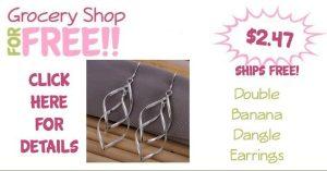 Double Banana Dangle Earrings Only $2.47!  Ships FREE!