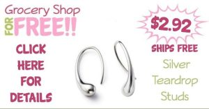 Sterling Silver Plated Teardrop Studs Only $2.92 + FREE Shipping!