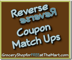Current Walmart Reverse Coupon Matchups