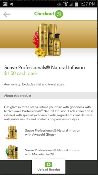 FREE Suave Natural Infusion Shampoo And Conditioner PLUS Overage