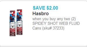 Spidey Shot Web Fluid Coupon