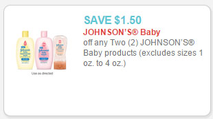 johnson's baby products coupon