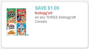 kellogg's cereal coupon