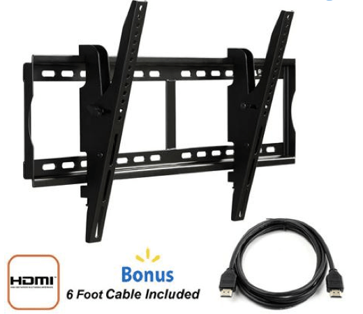 "Tilting Wall Mount for 37"" to 70"" TVs and HDMI Cable Only $18 + FREE Store Pickup!"