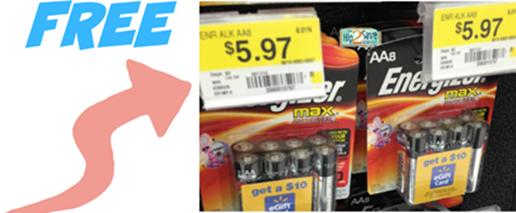 FREE Energizer Batteries