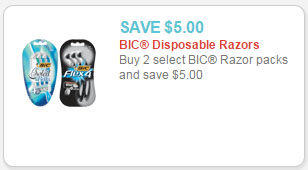 bic razor packs coupon
