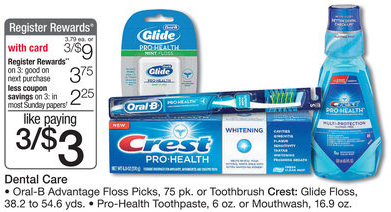 crest pro-health price match