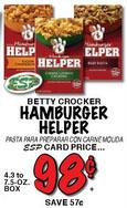 hamburger helper price match