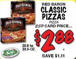 red baron pizza price match