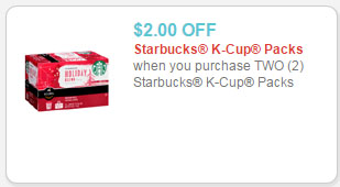 starbucks k-cups coupon