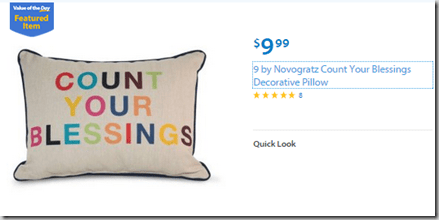 Walmart Values of the Day: Augason Farms Emergency Food for $45 or Decorative Pillow for $9.99!