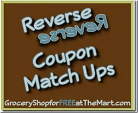 8/30 Reverse Coupon Matchups!