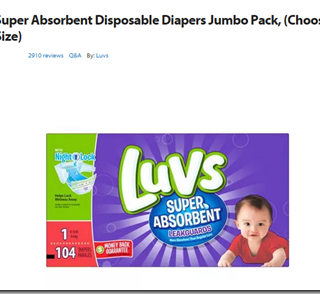 TODAY ONLY: FREE Luvs Diapers with Overage!