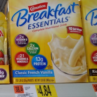 Carnation Breakfast Essentials Just $3.84 at Walmart!