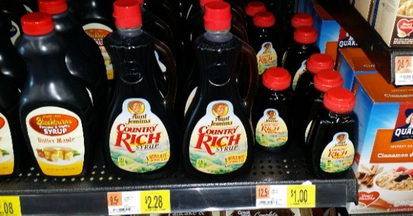 Aunt Jemima Syrup Just $1.66 At Walmart!