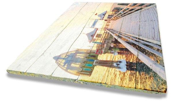 Grömitz Bilder - Foto auf altem Holz gedruckt
