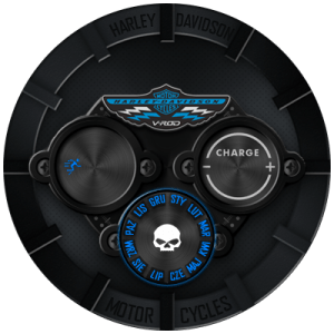 HARLEY - DAVIDSON DIGITAL WATCHFACE