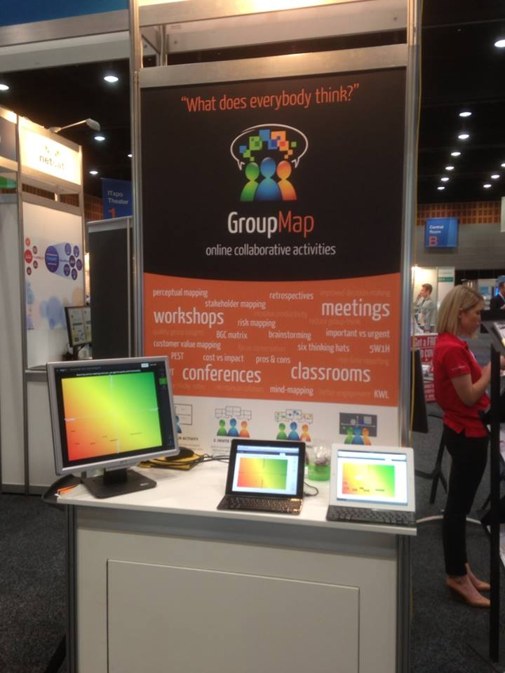 GroupMap exhibits innovative collaboration software at Gartner IT symposium.