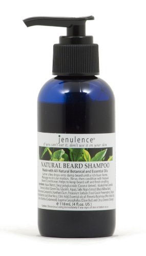 A photo of natural beard shampoo.