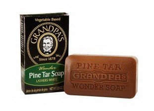 Photo of pine tar soap for beard dandruff.