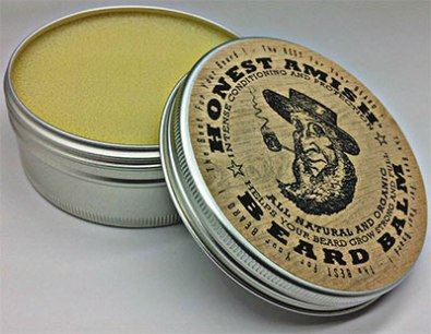 Photo of an extra large tub of beard balm.
