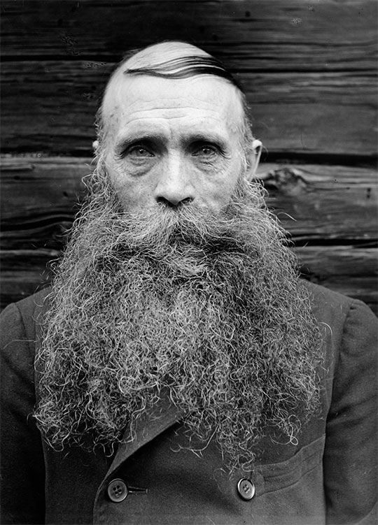 Man with maximum beard length.