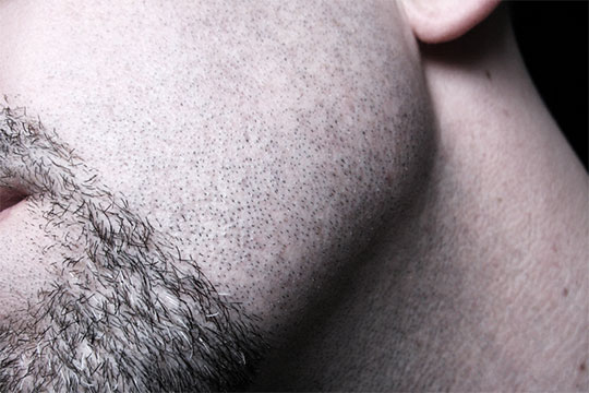 Stubble looks messy, so once you commit to a beard style, keep it up.