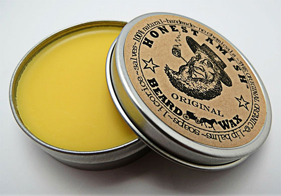 An image of standard beard wax by Honest Amish.