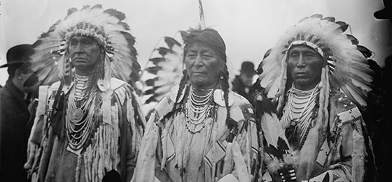 A photo of native americans without beards.