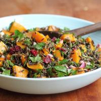 Wild rice and winter squash salad