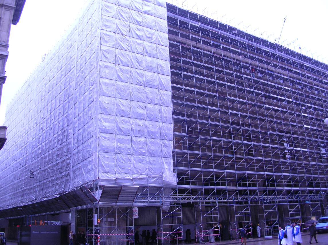 La Rinascente Piazza Duomo Milano - Gruppo Di Falco Ponteggi
