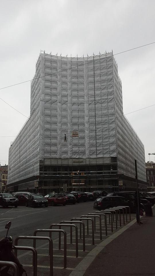 Piazza Edison Milano - Gruppo Di Falco Ponteggi