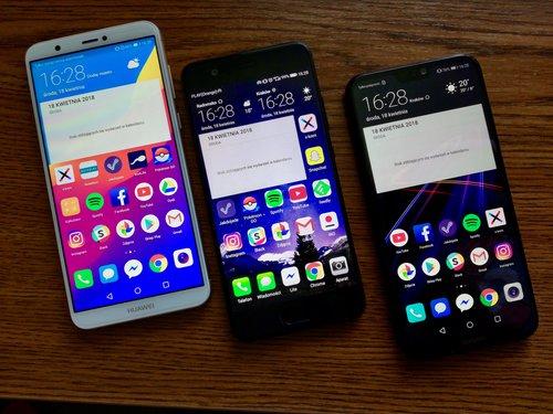 Huawei P10, Huawei P20 Lite i Huawei P Smart/fot. gsmManiaK.pl