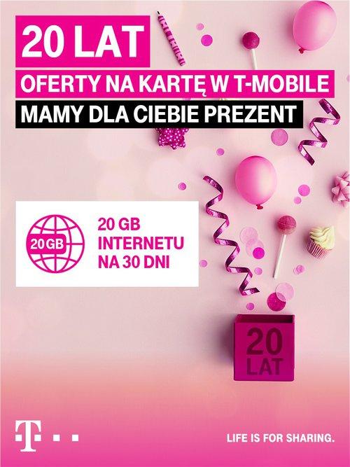 20 lat na karrtę T-Mobile