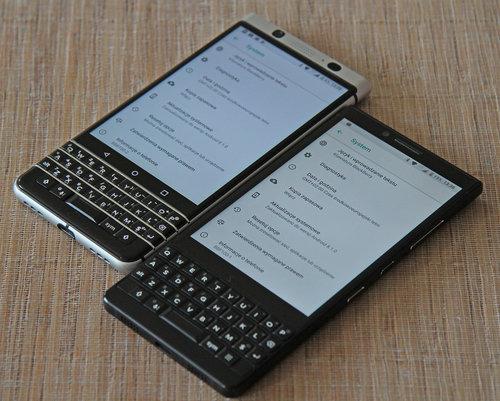 U góry BlackBerry KEYOne, u dołu BlackBerry KEY2 / fot. gsmManiaK.pl